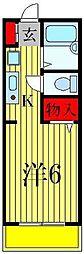 サンファスト松戸[1階]の間取り