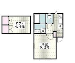 タテイシハイツ弘明寺[2階]の間取り