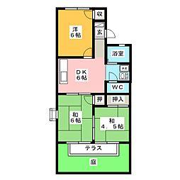 ホワイトベース A[1階]の間取り
