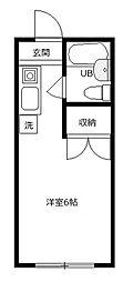 ハイツ田倉[1階]の間取り