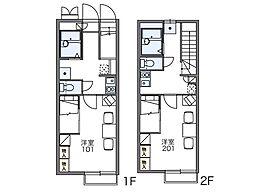 レオパレスメルベーユIV[1階]の間取り