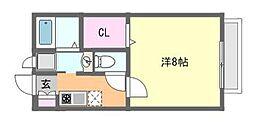 パナハイツ三山B[106号室]の間取り