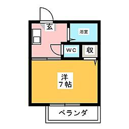 エクレール京田[2階]の間取り