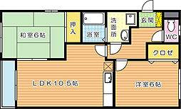 コゥジィコートII[2階]の間取り
