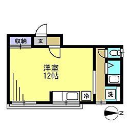 キムラ荘[205kk号室]の間取り