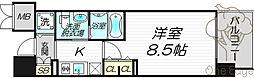 エステムプラザ梅田・中崎町IIIツインマークスノースレジデンス[4階]の間取り