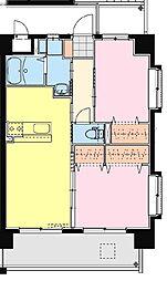 (賃)Sky Design II[4階]の間取り