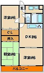 オーシャンビュー江井ヶ島[3階]の間取り