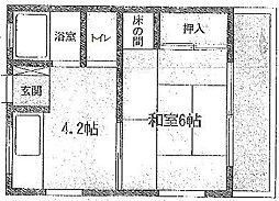 神奈川県川崎市麻生区高石2丁目の賃貸アパートの間取り