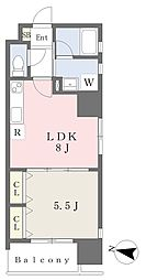 JR鹿児島本線 黒崎駅 徒歩10分の賃貸マンション 3階1LDKの間取り