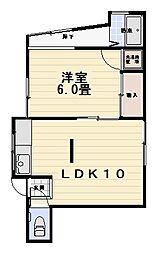 丹野アパート[1階号室]の間取り
