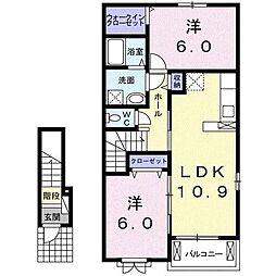 グランペレ・ヤマガタ[2階]の間取り