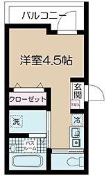 JR中央本線 吉祥寺駅 徒歩7分の賃貸マンション 3階ワンルームの間取り