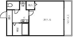 メゾンエスト[4階]の間取り