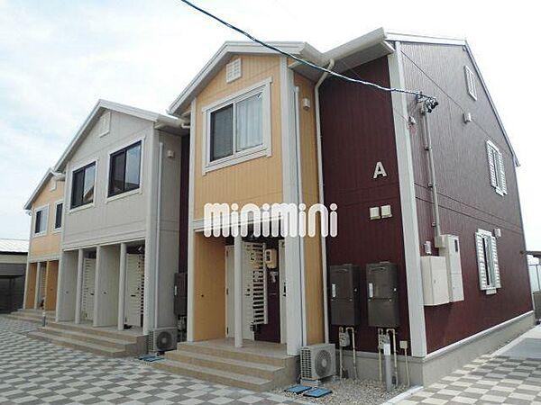愛知県知立市牛田町宮本の賃貸アパートの外観