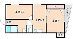 増田マンション[303号室]の間取り