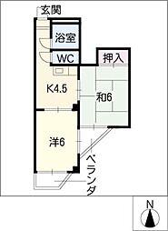 レジデンス入場[4階]の間取り