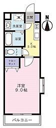 静岡県掛川市和光2丁目の賃貸マンションの間取り