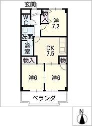 エステート鈴木[3階]の間取り