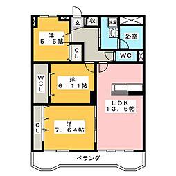 サンライフ71[5階]の間取り