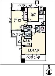 グランドメゾン勝川ネクシティウエストコート1301[13階]の間取り