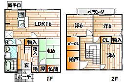 [一戸建] 福岡県北九州市小倉北区神幸町 の賃貸【/】の外観