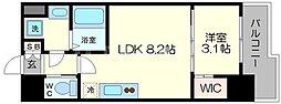 SERENiTE福島scelto 14階1LDKの間取り