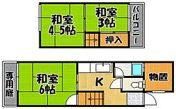 [テラスハウス] 兵庫県川西市霞ケ丘2丁目 の賃貸【/】の間取り