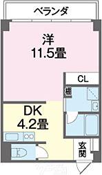 SKYビル(スカイビル) 3階1DKの間取り