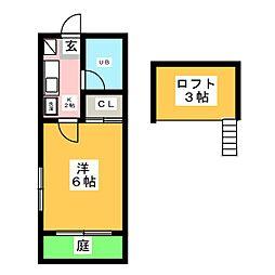 セザンヌ[1階]の間取り
