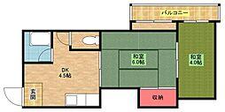 マンションサンエース[A−3号室]の間取り