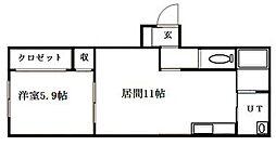北海道札幌市豊平区美園七条7丁目の賃貸マンションの間取り
