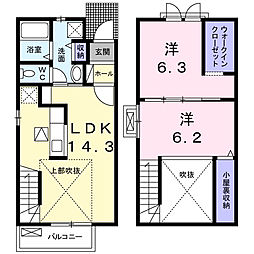 エスクードI[A102号室]の間取り