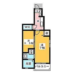ドゥ・マーベラスHIRO[1階]の間取り