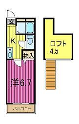 埼玉県川口市領家2丁目の賃貸マンションの間取り