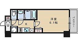 プレサンス北堀江[14階]の間取り