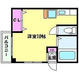 兵庫県神戸市灘区福住通8丁目の賃貸マンションの間取り