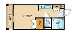 兵庫県尼崎市西桜木町の賃貸マンションの間取り