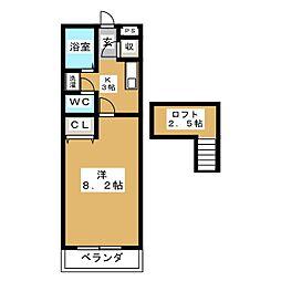 プリベール仙台21[2階]の間取り