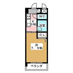 クリエイティブ一宮[5階]の間取り