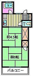 コーポタカハシ[206号室]の間取り