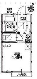 ポンデロッサ小田弐番館[1階]の間取り