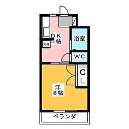 静岡県浜松市中区高丘東4の賃貸マンションの間取り