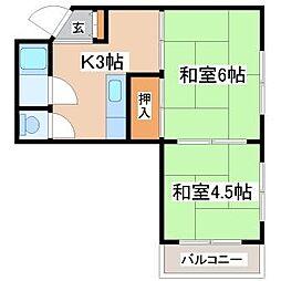 兵庫県神戸市須磨区永楽町2丁目の賃貸マンションの間取り