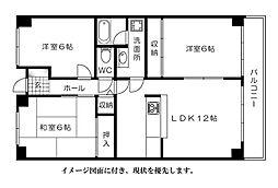 松川ハイツ[403号室]の間取り
