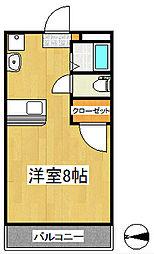 のばらビル[4階]の間取り