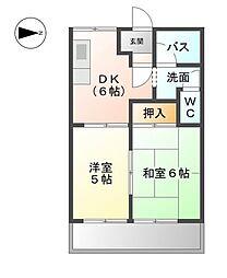 愛知県名古屋市南区豊田の賃貸マンションの間取り