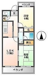 マンションリベラル[4階]の間取り