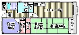 フローラル岸和田[107号室]の間取り