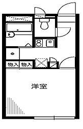 神奈川県相模原市中央区富士見3丁目の賃貸アパートの間取り